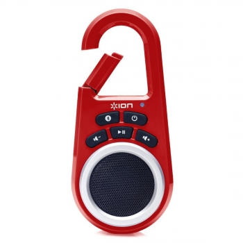 Ion Clipster Red Bluetooth Lautsprecher
