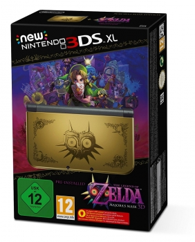 Nintendo New 3Ds XL Gold Legend of Zelda Majora´s Mask Limited Edition
