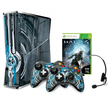 Microsoft Xbox 360 Konsole (320GB) Limited Edition inklusive Halo 4 + 2 Controller