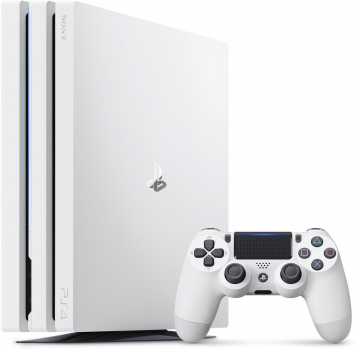 Sony PlayStation 4 Pro Konsole Glacier White (1TB) inklusive 1 Controller
