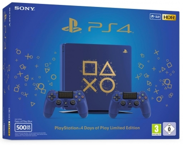Sony PlayStation 4 Konsole Limited Edition (500GB) inklusive 2 Controller