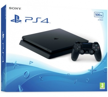 Sony PlayStation 4 Konsole Slim Jet Black (500GB) inklusive 1 Controller