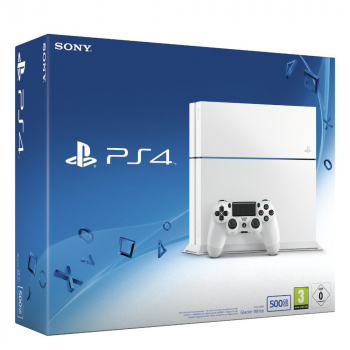 Sony PlayStation 4 Konsole Glacier White (500GB) inklusive 1 Controller