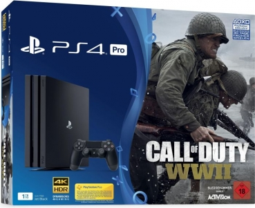 Sony PlayStation 4 Pro Konsole Black (1TB) inklusive Call of Duty WW2