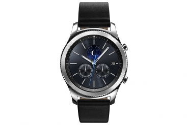 Samsung S3 Classic Smartwatch mit Echtleder-Armband (Android, iOS)