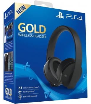 Sony PlayStation 4 Gold Wireless Headset 7.1 (PlayStation 4, PC)