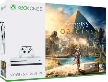 Microsoft Xbox One S Konsole (500GB) inklusive Assassin's Creed Origins