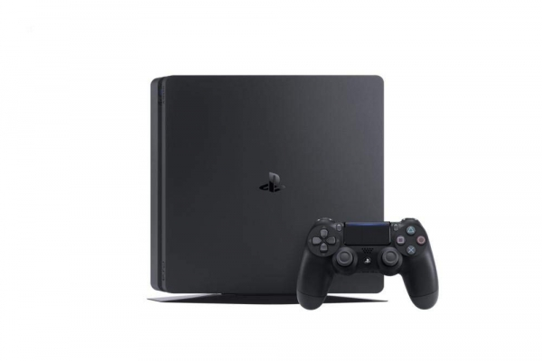 Sony PlayStation 4 Konsole Slim Jet Black (500GB) inklusive 1 Controller + 3 Spiele (The Last of Us, Ratchet & Clank & Uncharted 4)