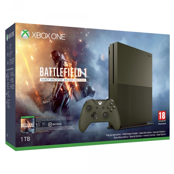 Microsoft Xbox One S Konsole (1TB) Limited Edition inklusive Battlefield 1