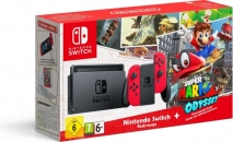 Nintendo Switch Konsole Rot inklusive Super Mario Odyssey